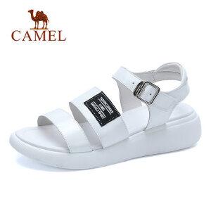骆驼平底松糕鞋厚底凉鞋 2018夏季新款韩版百搭坡跟 学生简约女鞋