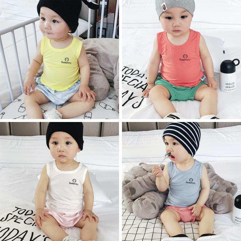 婴儿背心夏季新生儿衣服纯棉无袖字母吊带外出0-2岁 宝宝背心 发货周期:一般在付款后2-90天左右发货,具体发货时间请以与客服协商的时间为准