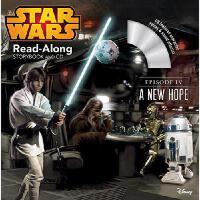 英文原版 《星球大战:新希望》书 CD Star Wars: A New Hope Read-Along Storyb