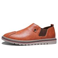 秋季韩版皮鞋布洛克男士休闲鞋商务板鞋百搭潮流潮鞋懒人蹬男鞋子