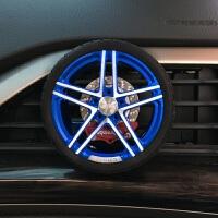 汽车轮胎轮毂出风口香水 铝合金刹车碟创意风口夹出风口香薰