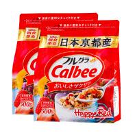 【2袋装】Calbee卡乐比水果麦片500g*2北海道富果乐水果麦片早餐 即食 冲饮