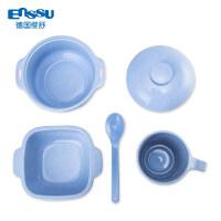 儿童餐具套装宝宝吃饭稻壳麦秸碗宝宝水杯4件套a475 餐具4件套