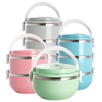 日式不锈钢多层保温桶饭盒大容量分格学生3便当盒儿童双层4餐盒