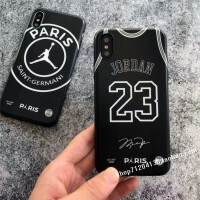 大巴黎乔丹联名23号xxs max手机壳苹果7/8plus软6s男xr i7/i8 23号背心