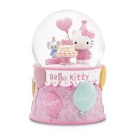 kitty生日蛋糕水晶球女生儿童音乐盒八音盒生日情人节礼物 Kitty生日蛋糕(顺丰)