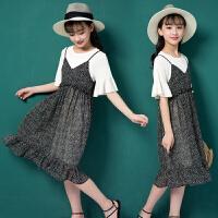 女童夏季连衣裙新款韩版童装中大童夏装儿童吊带裙