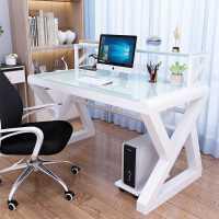 【限时7折】豫见美农电脑台式桌家用简易小桌子卧室简约办公桌学生写字桌书桌书架组合