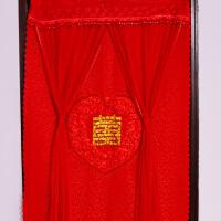 结婚用品婚房装饰布置 双层刺绣门帘长款红色门帘婚庆用品 双层心形喜字款长门帘
