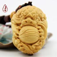 杨木木雕挂件雕刻貔貅工艺品把玩文玩貔貅木雕