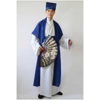古装书生服装古代民族演出服唐装汉服男式中国风秀才装才子演出服