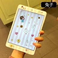 2018新款ipad苹果air2卡通iPad4mini3迷你1平板9.7钢化彩5膜贴膜6 mini4 兔子