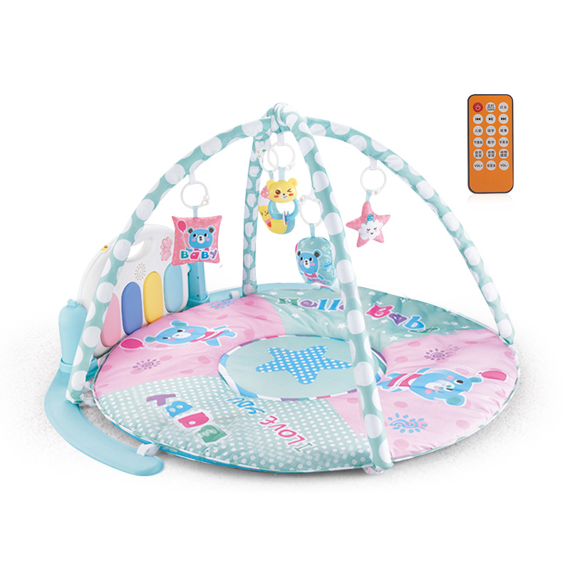 新生婴儿脚踏钢琴健身架器宝宝音乐毯男孩女孩玩具充电0到1岁抖音
