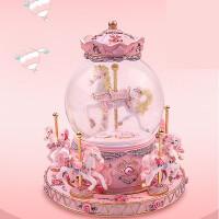 旋转木马水晶球八音盒音乐盒儿童生日礼物女生送女孩闺蜜diy创意