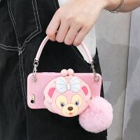 苹果5se手机壳少女粉系iPhone 5s/6s/plus可爱小熊零钱包苹果6/6plus手提包包