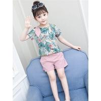 女童夏装新款套装洋气时髦儿童夏季两件套韩版时尚潮女孩衣服