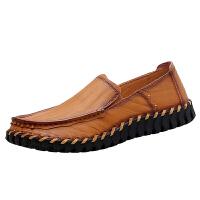 秋季新款男士休闲皮鞋真皮软底特大码45 宽脚胖脚肥英伦男鞋