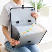 得力文件包A4文件夹多层学生用试卷手提风琴包收纳袋办公用文件夹收纳盒试卷夹插页夹a4资料册档案夹大容量