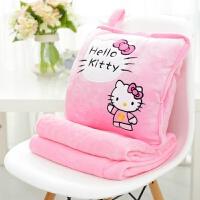 哈喽 hello kitty凯蒂猫公仔暖手抱枕被子空调毯抱枕两用圣诞礼品 暖手抱枕+毯子(1.7*1米)