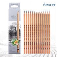 MARCO马可铅笔初学者素描2B铅笔学生绘图考试铅笔7001