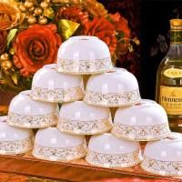 10个装骨瓷饭碗 景德镇4.5英寸陶瓷碗 米饭碗