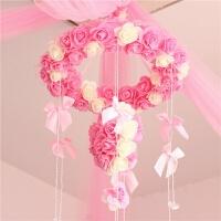 婚庆用品创意婚房装饰花环结婚新房布置泡沫花挂饰可颜