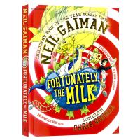 幸好有牛奶 英文原版书 Fortunately the Milk 儿童文学作品 同名电影 尼尔盖曼 Neil Gaim