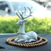 汽车车内饰品摆件装饰 一路平安鹿创意个性漂亮保平安车载用品