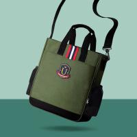 斜挎包美术袋手提书包小学生补习袋学习袋便携儿童可爱补课包