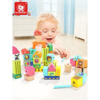 儿童一两岁宝宝穿线串珠女孩益智玩具穿珠子积木玩具1-2周岁3男孩