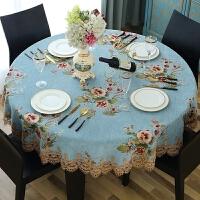 20200111033434602大圆桌桌布PVC圆形餐桌布布艺家用酒店台布防烫免洗欧式