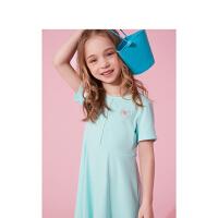 【抢购价:39】笛莎童装女童裙子2021夏季新款中大童儿童女孩洋气运动风连衣裙