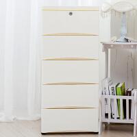 婴儿衣柜 38cm宽大号收纳箱抽屉式收纳柜塑料储物柜宝宝整理柜收纳盒抖音同款