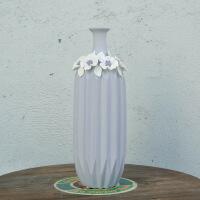 欧式紫色陶瓷花瓶客厅摆件电视柜房间家居装饰品鲜花插花陶瓷罐