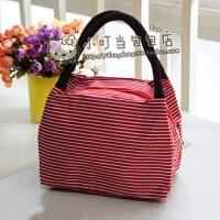 小包包女新款韩版手提包小布包手拎袋帆布小号妈咪包迷你百搭 红色 大红条纹