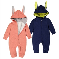 婴儿连体衣服秋冬季0岁3个月1男女宝宝冬装6新生儿冬装加绒外出服