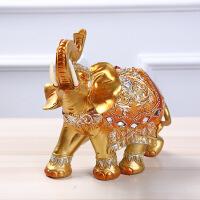创意摆件大象镶钻办公家居摆饰家居装饰树脂工艺品 金色