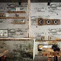 复古水泥灰砖纹防水壁纸卧室客厅餐厅吧壁纸背景墙 仅墙纸