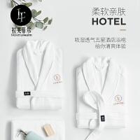 拉芙菲尔 五星级酒店浴袍男女成人纯棉毛巾料加厚吸水情侣睡袍
