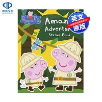 英文原版 小猪佩奇 神奇贴纸书 Peppa Pig: Amazing Adventures Sticker 低幼儿童英语