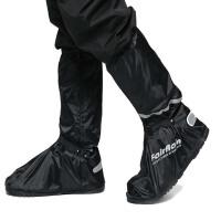 高帮高筒防水鞋套 牛津布防雨鞋套 防雪防风寒保暖护脚橡胶鞋底