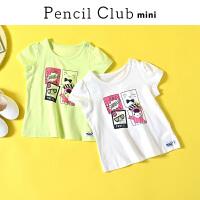 【3件2折:17.8】铅笔俱乐部童装2020夏装新款女童圆领T恤女小童短袖儿童套头上衣