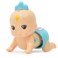 电动音乐爬行娃娃婴儿玩具 宝宝学爬行电动迷你爬娃儿童玩具 8860颜色随机