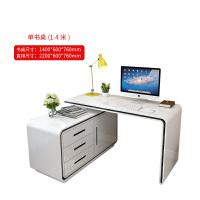 家用台式旋转书桌 现代简约卧室时尚转角书柜书架折叠电脑桌组合