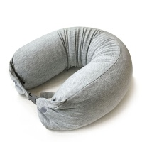 泰国天然乳胶颗粒U型护颈枕头U形午休趴睡枕颈椎U枕飞机旅行靠枕