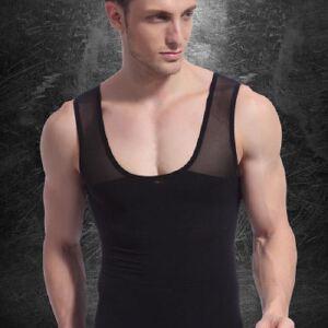无缝升级版NY027收腹紧身塑身背心男士塑身衣