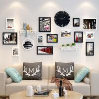 北欧照片墙客厅背景墙面装饰创意个性挂墙相框组合简约现代相片墙
