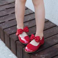 童鞋女童皮鞋2018春季新款蝴蝶结儿童单鞋学生花童公主鞋