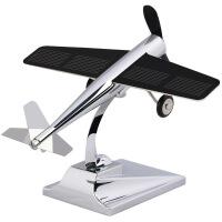?太阳能小飞机车载摆件车饰模型阳光创想儿童拼装玩具礼品创意 天空一号