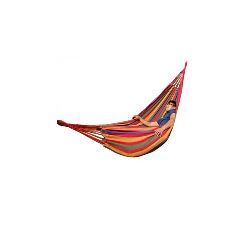 户外加厚帆布双人吊床 露营睡床 装饰室内休闲摇床 秋千 品质保证 售后无忧 支持货到付款